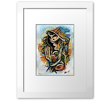 A lady from somewhere Framed Print