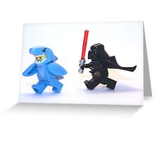 Lego Star Wars Darth Vader and Shark Suit Guy Pursuit Minifigure Greeting Card
