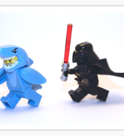 Lego Star Wars Darth Vader and Shark Suit Guy Pursuit Minifigure Sticker