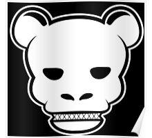 YG Bear Skull Black Poster