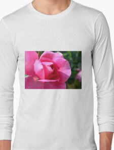 Pink rose in the garden. Long Sleeve T-Shirt
