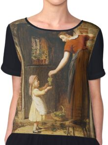 Vintage famous art - George Smith - Gathering The Grapes Chiffon Top