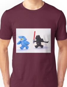Lego Star Wars Darth Vader and Shark Suit Guy Pursuit Minifigure Unisex T-Shirt