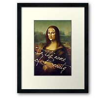 In The Name Of Beauty Framed Print