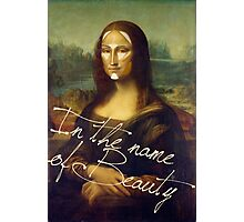 In The Name Of Beauty Photographic Print
