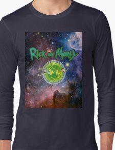 Rick and Morty Galaxy Long Sleeve T-Shirt