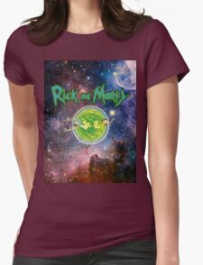 Rick and Morty Galaxy Womens Fitted T-Shirt