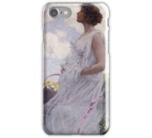 George Hitchcock - Calypso . Flowers. Woman Portrait . American Landscape iPhone Case/Skin