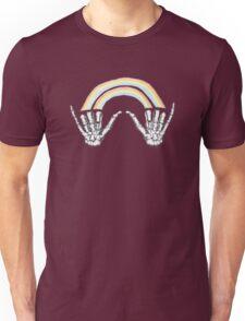 Louis' skeleton hands double rainbow Unisex T-Shirt