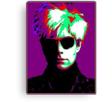 Andy Warhol Psychedelic Pop Art Portrait Canvas Print