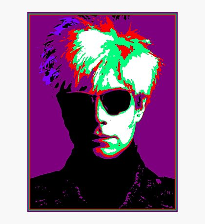 Andy Warhol Psychedelic Pop Art Portrait Photographic Print