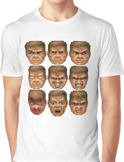 Doom faces Graphic T-Shirt