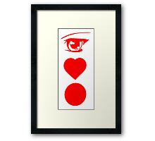 I  LOVE JAPAN Framed Print