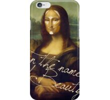 In The Name Of Beauty iPhone Case/Skin