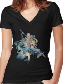 Fire Emblem Fates - Azura / Aqua Women's Fitted V-Neck T-Shirt