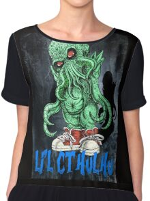 HP LOVECRAFT LIL CTHULHU (BACK GROUND) Chiffon Top