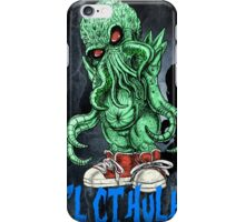 HP LOVECRAFT LIL CTHULHU (BACK GROUND) iPhone Case/Skin