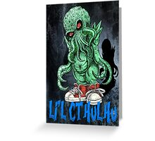 HP LOVECRAFT LIL CTHULHU (BACK GROUND) Greeting Card
