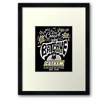The Batcave Club Framed Print