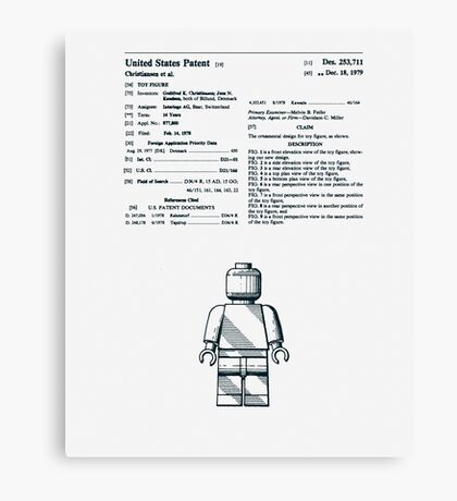 Lego Man Patent 1979 Canvas Print