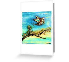 'FLY' - She believed she could. Greeting Card