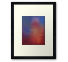 Abstract Triangles Framed Print
