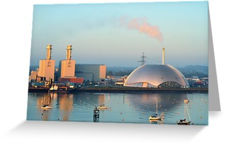 Power Station and Incinerator from Southampton Water by Stephen Frost