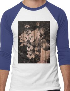 Grunge Flowers  Men's Baseball ¾ T-Shirt
