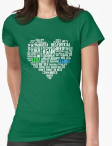 Clarke & Lexa quotes: best of ; Womens Fitted T-Shirt