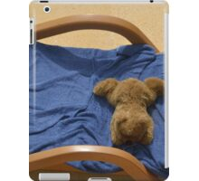 hot dog relaxing on deck iPad Case/Skin