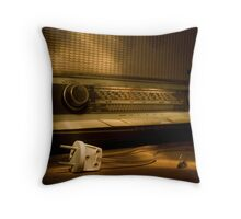 Radio Electricity Throw Pillow