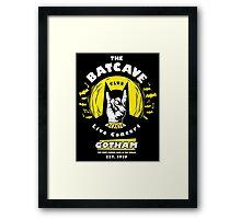 The Batcave Club v2 Framed Print