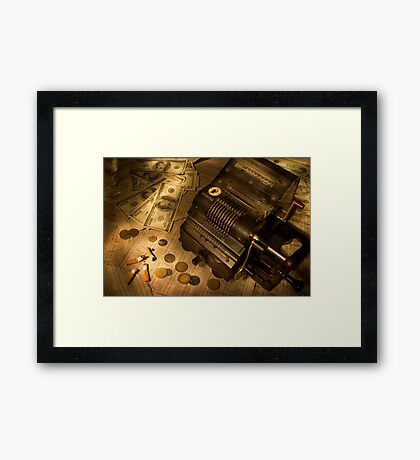 The stock market Framed Print