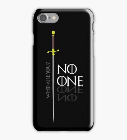 No One  iPhone Case/Skin