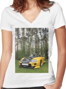 Nature's Machine Women's Fitted V-Neck T-Shirt