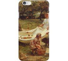 Vintage famous art - Frederick Morgan - The Apple Gatherers iPhone Case/Skin