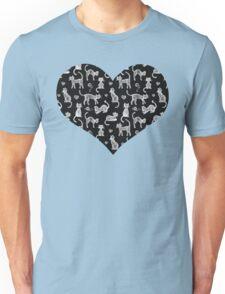 Teacher's Pet - chalkboard cat pattern Unisex T-Shirt