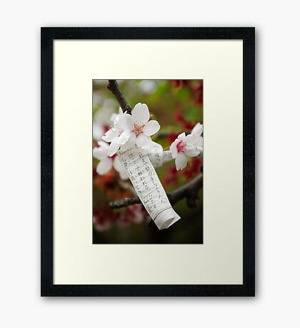 Bad fortune, new hope Framed Print