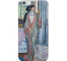 Vintage famous art - Frederick Carl Frieseke - The Robe iPhone Case/Skin