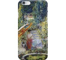 Vintage famous art - Frederick Carl Frieseke - The Garden Umbrella iPhone Case/Skin