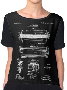 Snare Drum Patent - Black Chiffon Top