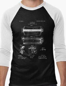Snare Drum Patent - Black Men's Baseball ¾ T-Shirt