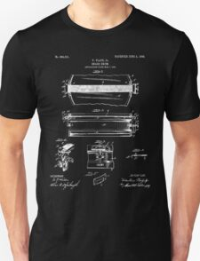 Snare Drum Patent - Black Unisex T-Shirt