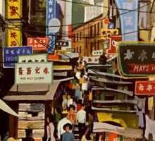 The Orient is Hong Kong Fly Jet BOAC Vintage Travel Poster Sticker