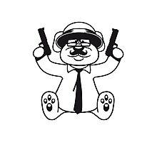gangster mafia gangster guns ties hat hornbrille mustache nasty thug shoot robber thief raid teddy bear Photographic Print