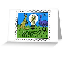 30 Years of Electricity Greeting Card