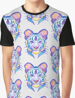 Clairvoyant Pastel Tiger Graphic T-Shirt