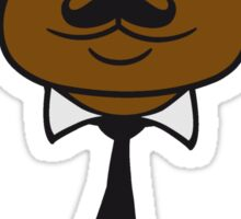 gangster mafia gangster guns head tie hat hornbrille mustache gentleman gentlemen mr man sir face teddy bear Sticker