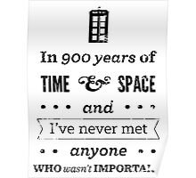 Never met anyone who isn't important  Poster