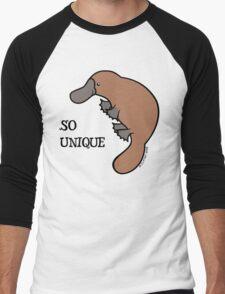 DUCK-BILLED PLATYPUS - SO UNIQUE  Men's Baseball ¾ T-Shirt